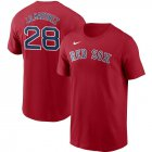 Cheap Boston Red Sox #28 J.D. Martinez Nike Name & Number T-Shirt Red