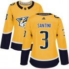 Cheap Adidas Predators #3 Steven Santini Yellow Home Authentic Women's Stitched NHL Jersey