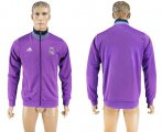 Cheap Real Madrid Soccer Jackets Purple