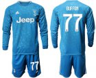 Cheap Juventus #77 Buffon Third Long Sleeves Soccer Club Jersey