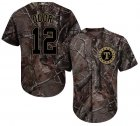 Cheap Rangers #12 Rougned Odor Camo Realtree Collection Cool Base Stitched Youth MLB Jersey