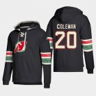 Cheap New Jersey Devils #20 Blake Coleman Black adidas Lace-Up Pullover Hoodie