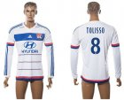Cheap Lyon #8 Tolisso Home Long Sleeves Soccer Club Jersey