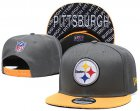 Cheap Steelers Team Logo Gray Yellow Adjustable Hat TX