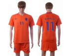 Cheap Holland #11 Robben Home Soccer Country Jersey
