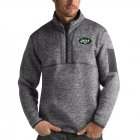 Cheap New York Jets Antigua Fortune Quarter-Zip Pullover Jacket Charcoal