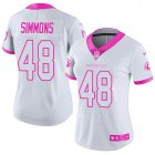 Cheap Nike Cardinals #48 Isaiah Simmons White/Pink Women's Stitched NFL Limited Rush Fashion Jersey