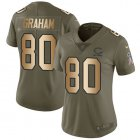 Cheap Nike Bears #80 Jimmy Graham Olive/Gold Women's Stitched NFL Limited 2017 Salute To Service Jersey