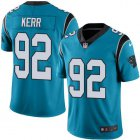 Cheap Nike Panthers #92 Zach Kerr Blue Men's Stitched NFL Limited Rush Jersey
