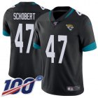 Cheap Nike Jaguars #47 Joe Schobert Black Team Color Youth Stitched NFL 100th Season Vapor Untouchable Limited Jersey
