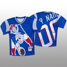 Cheap NFL New England Patriots Custom Blue Men's Mitchell & Nell Big Face Fashion Limited NFL Jersey