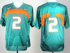 Cheap Miami Hurricanes #2 With No Name Green Jersey