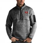 Cheap Tampa Bay Buccaneers Antigua Fortune Quarter-Zip Pullover Jacket Heather Black