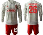 Cheap Juventus #26 Lichtsteiner Away Long Sleeves Soccer Club Jersey