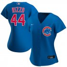 Cheap Chicago Cubs #44 Anthony Rizzo Nike Women's Alternate 2020 MLB Player Jersey Royal