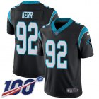 Cheap Nike Panthers #92 Zach Kerr Black Team Color Men's Stitched NFL 100th Season Vapor Untouchable Limited Jersey