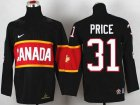 Cheap Team Canada 2014 Olympic #31 Carey Price Black Stitched Youth NHL Jersey