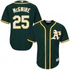Cheap Athletics #25 Mark McGwire Green Cool Base Stitched Youth MLB Jersey