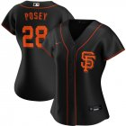 Cheap San Francisco Giants #28 Buster Posey Nike Women's Alternate 2020 MLB Player Jersey Black
