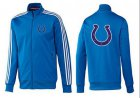 Cheap NFL Indianapolis Colts Team Logo Jacket Blue_3