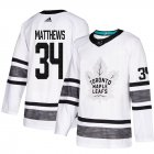 Cheap Adidas Maple Leafs #34 Auston Matthews White Authentic 2019 All-Star Stitched Youth NHL Jersey