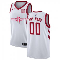 Cheap Rockets Customized White Nike City Edition Number Swingman Jersey