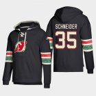 Cheap New Jersey Devils #35 Cory Schneider Black adidas Lace-Up Pullover Hoodie