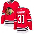 Cheap Adidas Blackhawks #31 Anton Forsberg Red Home Authentic Stitched NHL Jersey