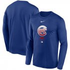 Cheap Men's Chicago Cubs Nike Royal Authentic Collection Legend Performance Long Sleeve T-Shirt