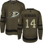 Cheap Adidas Ducks #14 Adam Henrique Green Salute to Service Youth Stitched NHL Jersey