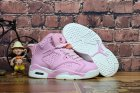 Cheap Kids Air Jordan 6 Retro Shoes Pink/White