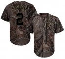 Cheap Royals #2 Alcides Escobar Camo Realtree Collection Cool Base Stitched Youth MLB Jersey
