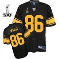 Cheap Steelers #86 Hines Ward Black With Yellow Number Super Bowl XLV Stitched NFL Jersey
