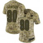 Cheap Nike Dolphins #90 Shaq Lawson Camo Women's Stitched NFL Limited 2018 Salute To Service Jersey