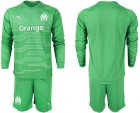Cheap Marseille Blank Green Goalkeeper Long Sleeves Soccer Club Jersey
