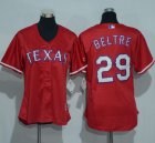 Cheap Rangers #29 Adrian Beltre Red Women's Alternate Stitched MLB Jersey