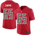 Cheap Nike Buccaneers #65 Alex Cappa Red Men's Stitched NFL Limited Rush Jersey