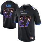 Cheap Boise State Broncos 27 Jay Ajayi Black With Portrait Print College Football Jersey