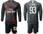 Cheap AC Milan #93 D.Laxalt Third Long Sleeves Soccer Club Jersey