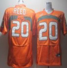Cheap Miami Hurricanes #20 Reed Orange Jersey