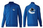 Cheap NHL Vancouver Canucks Zip Jackets Blue-1