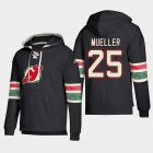 Cheap New Jersey Devils #25 Mirco Mueller Black adidas Lace-Up Pullover Hoodie