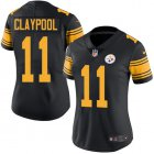 Cheap Nike Steelers #11 Chase Claypool Black Women's Stitched NFL Limited Rush Jersey