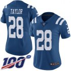 Cheap Nike Colts #28 Jonathan Taylor Royal Blue Women's Stitched NFL Limited Rush 100th Season Jersey