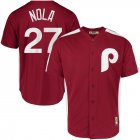 Cheap Philadelphia Phillies #27 Aaron Nola Majestic 1979 Saturday Night Special Cool Base Cooperstown Player Jersey Maroon