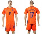 Cheap Holland #17 Narsingh Home Soccer Country Jersey