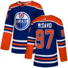 Cheap Adidas Oilers #97 Connor McDavid Royal Alternate Authentic Stitched Youth NHL Jersey