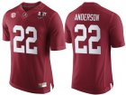 Cheap Men's Alabama Crimson Tide #22 Ryan Anderson Red 2017 Championship Game Patch Stitched CFP Nike Limited Jersey