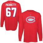 Cheap Montreal Canadiens #67 Max Pacioretty Reebok Name & Number Long Sleeve T-Shirt Red