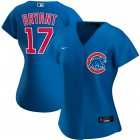 Cheap Chicago Cubs #17 Kris Bryant Nike Women's Alternate 2020 MLB Player Jersey Royal